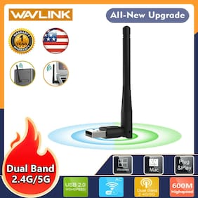 600Mbps 2.4GHz&5GHz Dual Band WiFi Dongle Adapter Access Point USB 2.0 Antenna