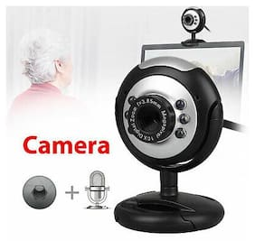 6LED 360° USB HD Night Vision Webcam Web Cam Camera w/MIC for Computer PC Laptop