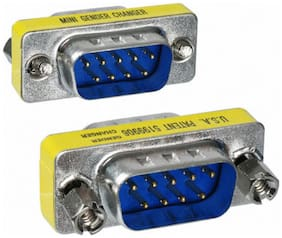 9 Pin RS-232 DB9 Male to Male Serial Cable Gender Changer Coupler Adapter