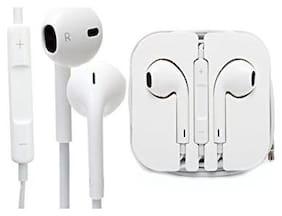 Aar Bee World EarPods with 3.5 mm Headphone Plug In Ear Earphone (White)