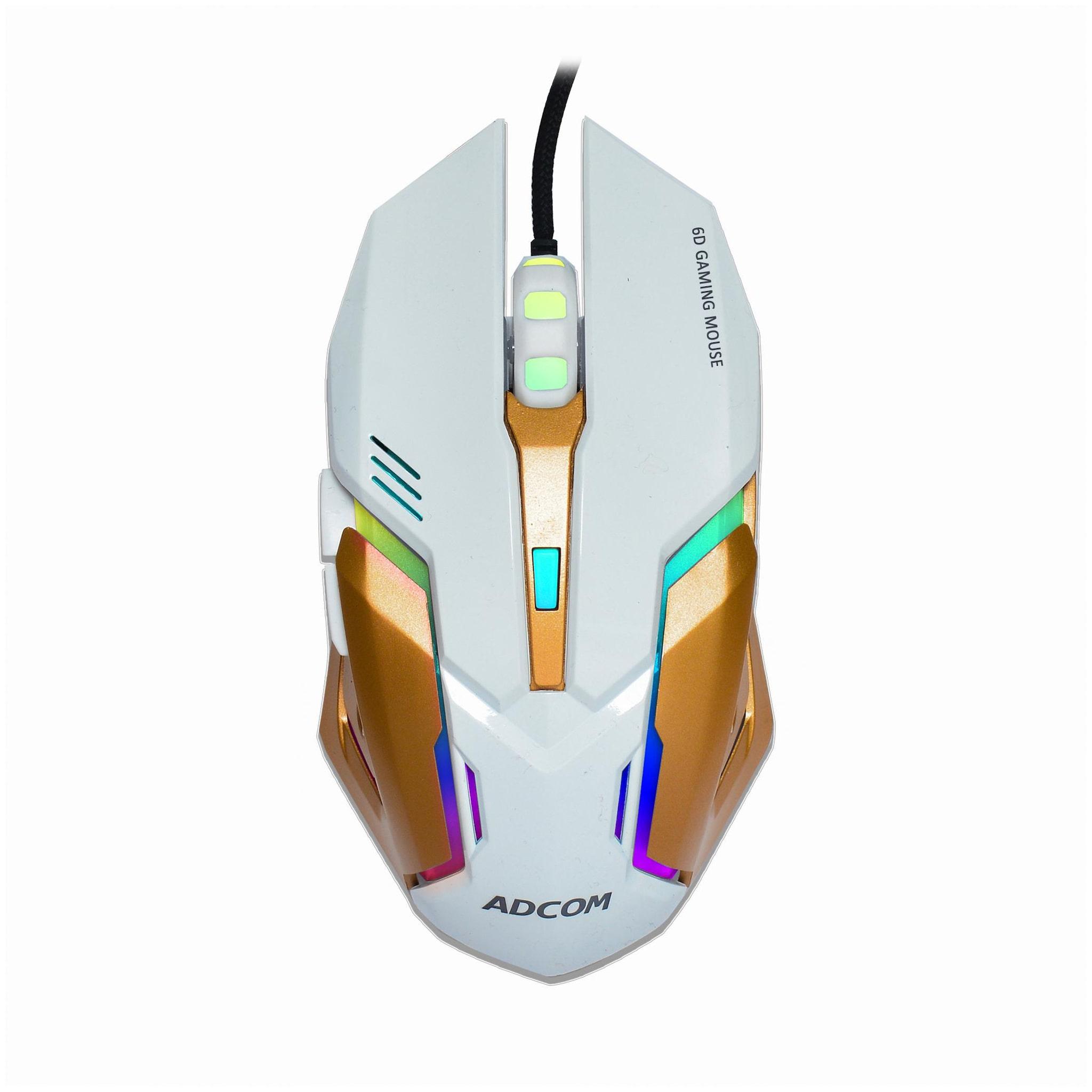 Adcom AD 5766 Wired Mouse   White   by Adcom
