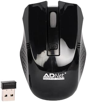Ad Net AD-999 Wireless Mouse ( Black )