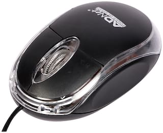 Ad Net AD-201 Wired Mouse ( Black )