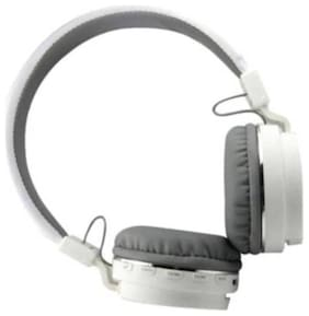 AFRODIVE sh 12 white Over-Ear Bluetooth Headset ( White )
