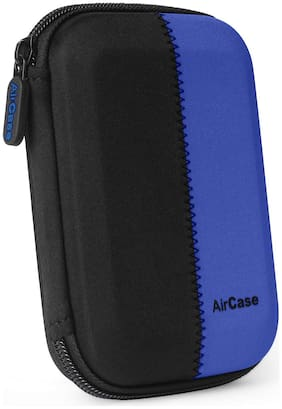 AirCase Hard Drive Case for 6.35 cm (2.5 inch) Hard Drive/GPS -Premium Edition/Rugged for Western Digital/Seagate/Toshiba (Blue)