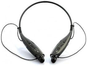 Altronics Sports Wireless Headphone HBS-730 Neck Band Handsfree Black In-Ear Bluetooth Headset ( Black )