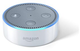 Amazon Echo Dot White - Voice control your music, Get news, weather & more