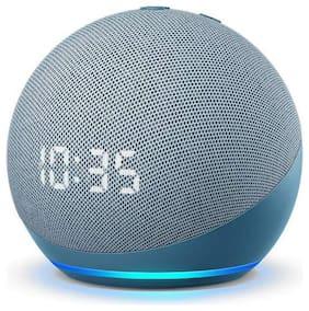 Amazon ECHO DOT 4TH GEN WITH CLOCK Wired Smart speaker ( Blue )