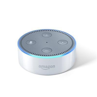 Amazon Echo Dot White - Voice control your music Get news weather & more