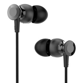 Ambrane EP-1100 in-Ear Extra Bass Headphones with Mic (Black)