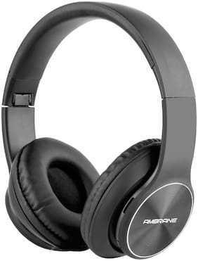 Ambrane WH-74 On-Ear Wireless Bluetooth Headphones With HD Sound, Super Bass, Mic, Aux, Fm And Sd Card Support - Black