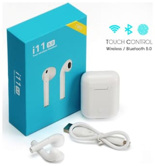 Buy Ananda Sales I11 Tws Wireless Bluetooth Earbuds Headphones With Mic And 2 Way Pairing Earphones For Ios And Android Phones Online At Low Prices In India Paytmmall Com