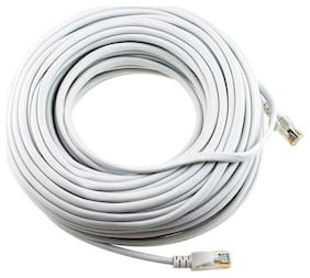 ANDTRONICS CAT-6 Snagless Network RJ45 Ethernet Patch LAN Cable CAT6 - 15M / 45 ft - White