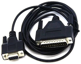 ANDTRONICS DB25 (25 pin) Male to DB9 (Serial ; RS232) Female Cable 1.5M-150CM-4.5FT - Black