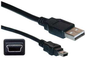 ANDTRONICS Premium Cable USB 2.0 Type A to Mini 5 pin Type B Cable for External HDD ; Camera ; Card Readers (500cm - 15 ft - 5M) - Black