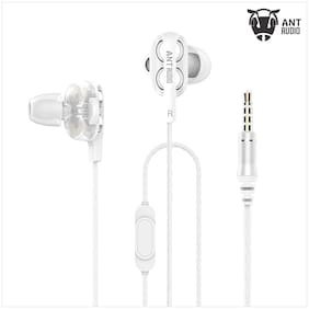 Ant Audio Doble W2 Dual Driver Wired in-Ear Headset (White)
