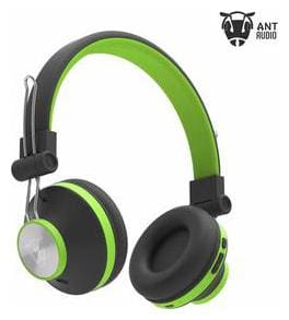 Ant Audio Treble H82 On-Ear Bluetooth Headphones with Mic (Black Green)