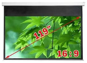 Antra    PSA-119AG 16:9 Electric Motorized Projector Projection Screen Remote Matt
