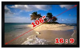"Antra  PSF-106AG 106"" 16:9 Fixed Frame Projector Projection Screen New PVC Grey"