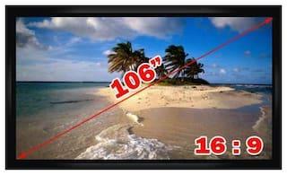 """Antra  PSF-106AG 106"""" 16:9 Fixed Frame Projector Projection Screen New PVC Grey"""