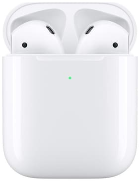 Apple  MRXJ2HN/A Airpods 2  with Wireless Charging Case (White)