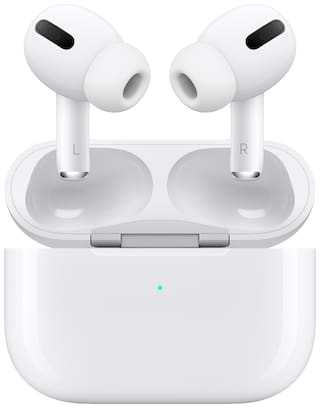 Apple Airpods Pro MWP22HN/A with wireless charging case In-Ear Bluetooth Headset ( White )