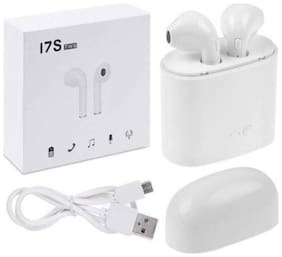 Apple iPhone X Compitable Wireless Earbuds Mini Bluetooth, HBQ i7 TWS  Sports Headphone for iOS & Android White By TSV