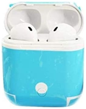 Apple iPhone 6s Plus Compitable Wireless Earbuds Mini Bluetooth, HBQ i8 TWS Twins for iOS & Android White By Crystal Digital