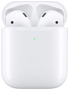 Apple AIRPODS 2 WITH WIRELESS CHARGING CASE -  MRXJ2HN/A In-ear Bluetooth Headsets ( White )