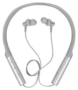 ARHUB Imported Mini Wireless Bluetooth Neckband Earphones   Compatible for Samsung In Ear Bluetooth Headset   Silver