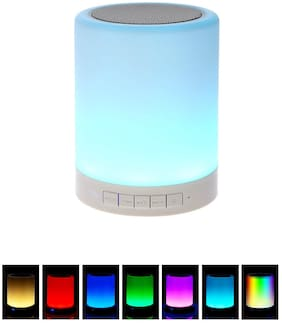 ARYAN LOGISTICS Latest Wireless Portable Bluetooth Speaker with Smart Touch LED Mood Lamp  SD Card and Mic