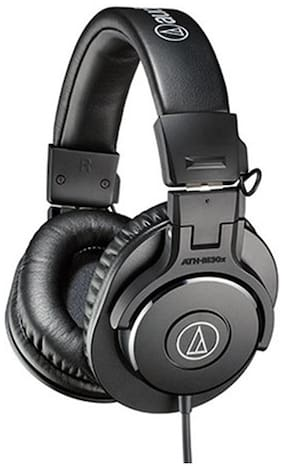 Audio-Technica ATH-M30x Over Ear Wired Headphone (Black)