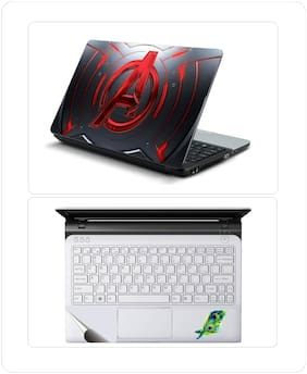Avengers Red metal Laptop Skin with Palmrest Skin for All Laptop - Notebook
