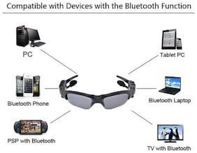BESTM 1-GADGET BLUETOOTH HEADSET SUNGLASSES On-ear Bluetooth Headsets ( Black )