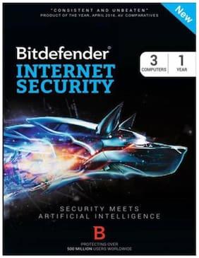 Bit Defender Internet Security Version free ( 3 PC / 1 Year ) - CD