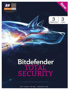 BitDefender Total Security Latest Version (Windows) - 3 User, 3 Years