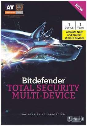 Bitdefender-Total Security Multi-Device 1 (+ 2 Device Free On Activation) (Activate Same Key 2 More Device