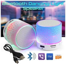Bluetooth Mini S10  Speaker with TF Micro SD Memory Cards Slot FM Radio Aux Cable Functionality Premium High Quality Product  Supports All Android and Apple Iphone Ios Smartphones Devices