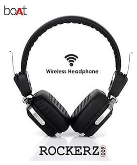 boAt ROCKERZ 600 BLACK On-ear Bluetooth Headsets ( Black )