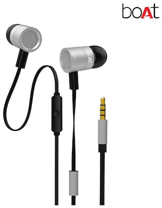 0ee2d61cebf Buy boAt Bassheads 230 In Ear Earphone (Silver) Online at Low Prices ...