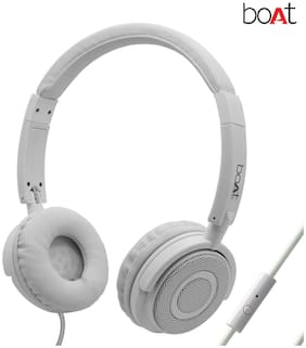 boAt Bassheads 900 Super Extra Bass Bass Heads 900 On-Ear Wired Headphone ( White )