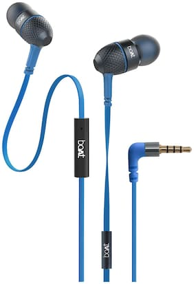 boAt Bassheads 220 Super Extra Bass In-Ear Wired Headphone ( Blue )