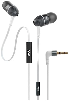 boAt Bassheads 220 Super Extra Bass In-Ear Wired Headphone ( White )