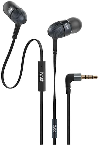 boAt Bassheads 220 Super Extra Bass In-Ear Wired Headphone ( Black )