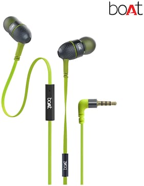 boAt BassHeads 225 In-Ear Bluetooth Headset ( Lime )