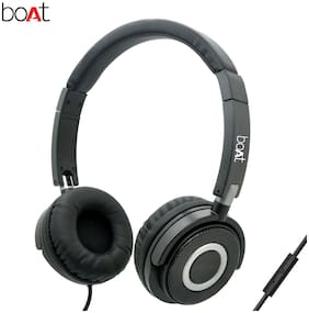 boAt Bassheads 900 Black Over-ear Wired Headphone ( Black )
