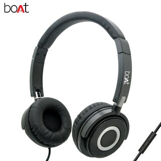 boAt BassHeads 900 Super Extra Bass On-Ear wired Headphones with Mic (Black)