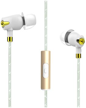 boAt Nirvaanaa Bliss White In-ear Wired Headphone ( White )