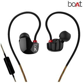 boAt Nirvanaa Uno In-Ear Earphones with Mic (Black)
