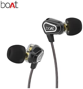 boAt Nirvanaa duo black In-ear Wired Headphone ( Black )